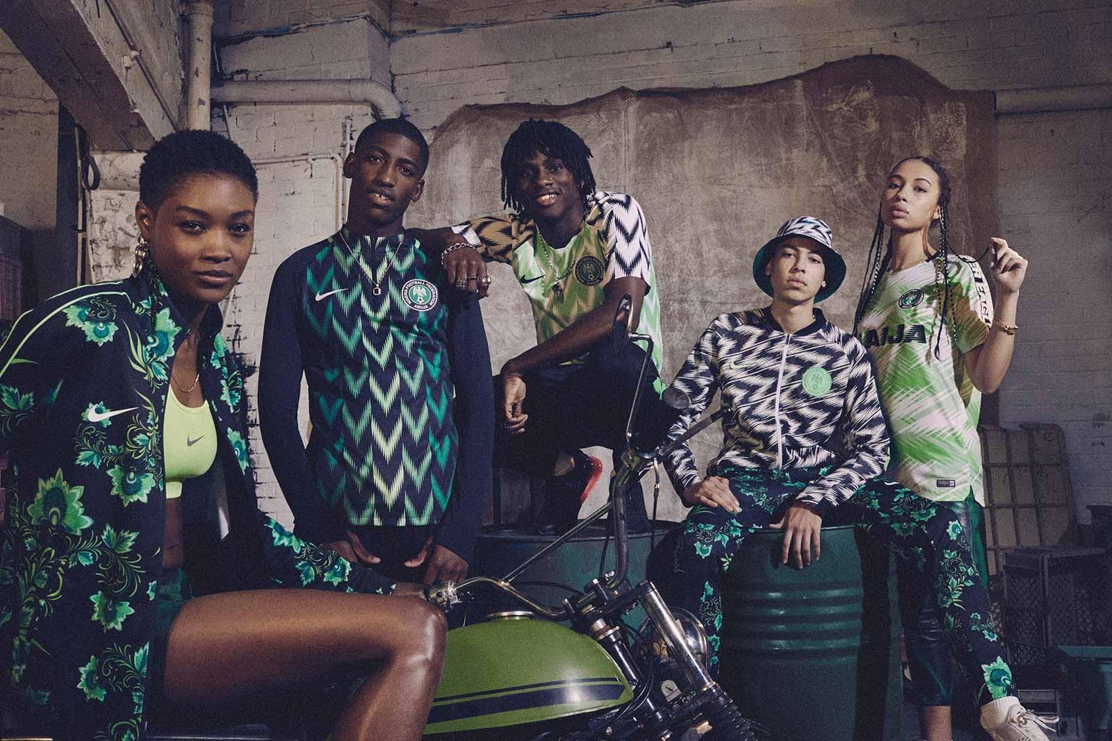 Toda a incrível linha da Nike para a seleção nigeriana na Copa do Mundo da Rússia (Foto: Divulgação)