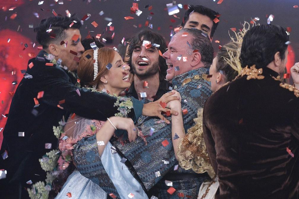 Leo Jaime celebra vitória na Dança dos Famosos 2018 — Foto: Fábio Rocha/Globo