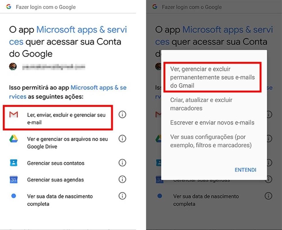 Login com a conta Google pode permitir que terceiros leiam suas mensagens (Foto: Reprodução/Paulo Alves)