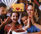 Fernanda Rodrigues e Raoni Carneiro com os filhos  | Reprodução