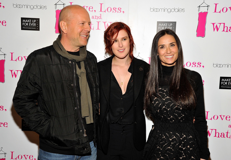 Bruce Willis, Rumer Willis, Demi Moore (Foto: Getty Images)