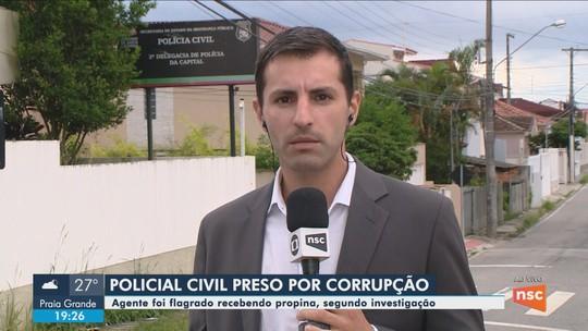 Policial civil é preso suspeito de extorquir comerciantes em Florianópolis