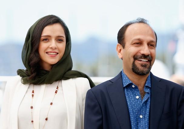 Taraneh Alidoosti e Asghar Farhadi  no Festival de Cannes de 2016 (Foto: Getty Images)
