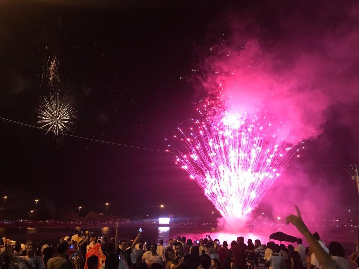 Festa de réveillon em Boa Vista reúne 50 mil pessoas debaixo de chuva no Parque Anauá