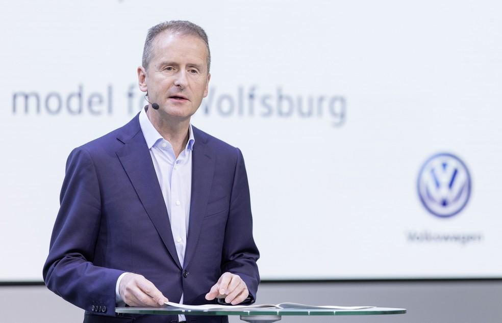 Herbert Diess diz que Volkswagen quer reduzir idade média dos carros no Brasil (Foto: Divulgação)