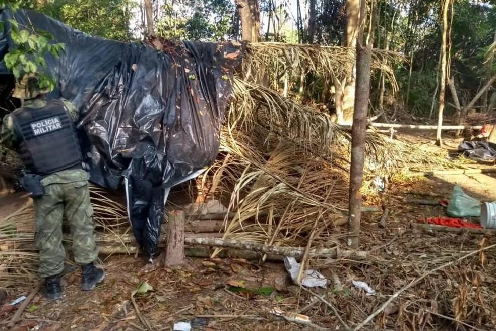 Ao todo, 11 acampamentos clandestinos foram desarticulados. — Foto: Reprodução/Agência Pará