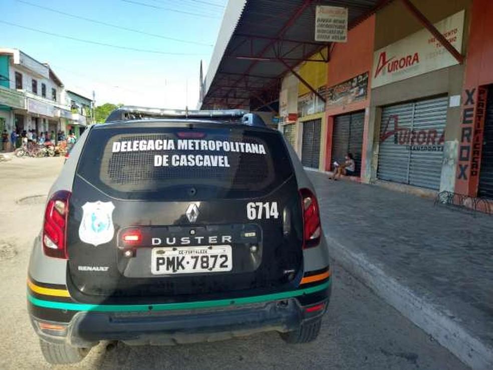 Operação da Polícia Civil captura quatro homens por suspeita de homicídios em Caucaia. — Foto: SSPDS/ Divulgação