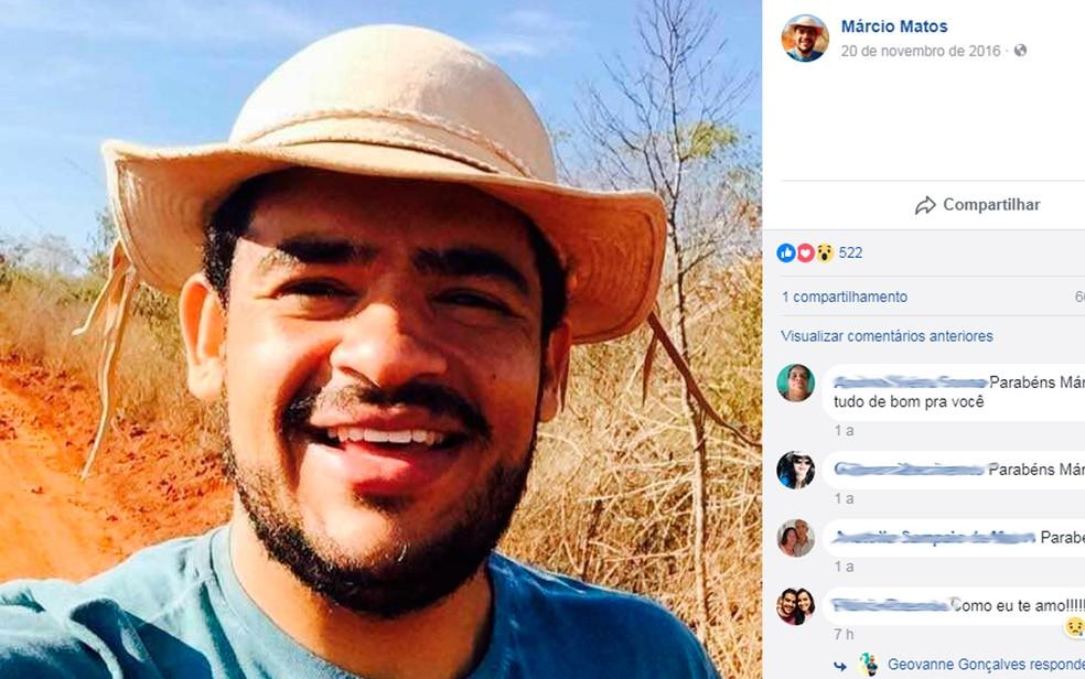 Márcio Matos Oliveira tinha 33 anos (Foto: Reprodução/Facebook)