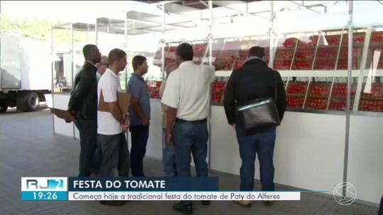 Tradicional Festa do Tomate começa nesta quinta em Paty do Alferes