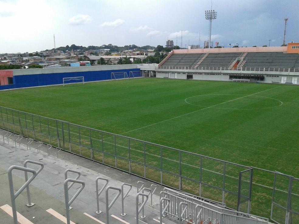 Estádio Carlos Zamith receberá um dos confrontos, o clássico entre Rio Negro e Nacional, no sábado (Foto: Divulgação/Sejel)