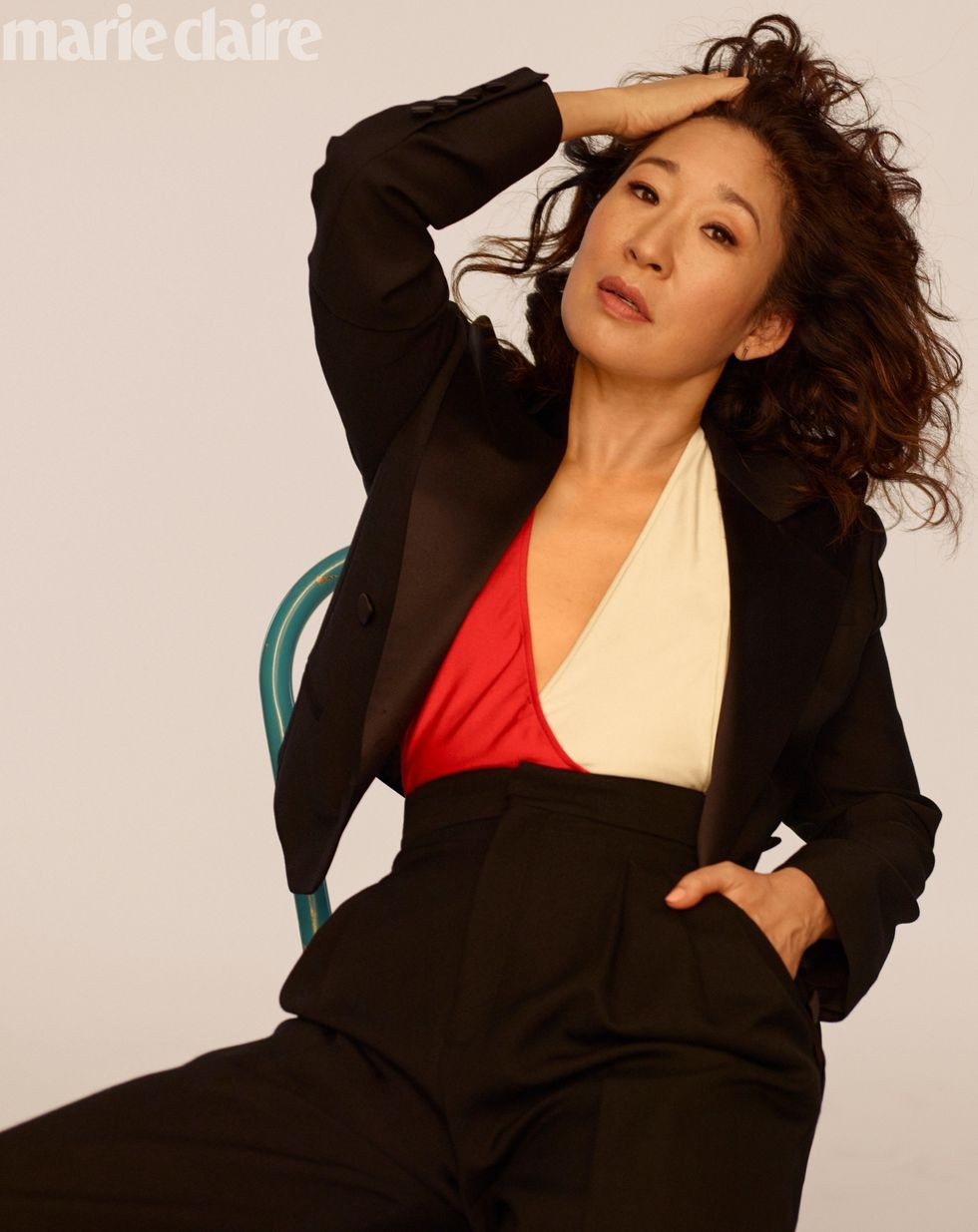 Sandra Oh para a Marie Claire US (Foto: Thomas Whiteside/Marie Claire US)