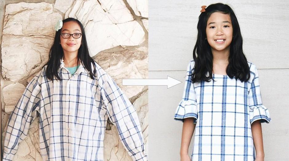 Uma das roupas transformadas por Sarah (Foto: Divulgação)