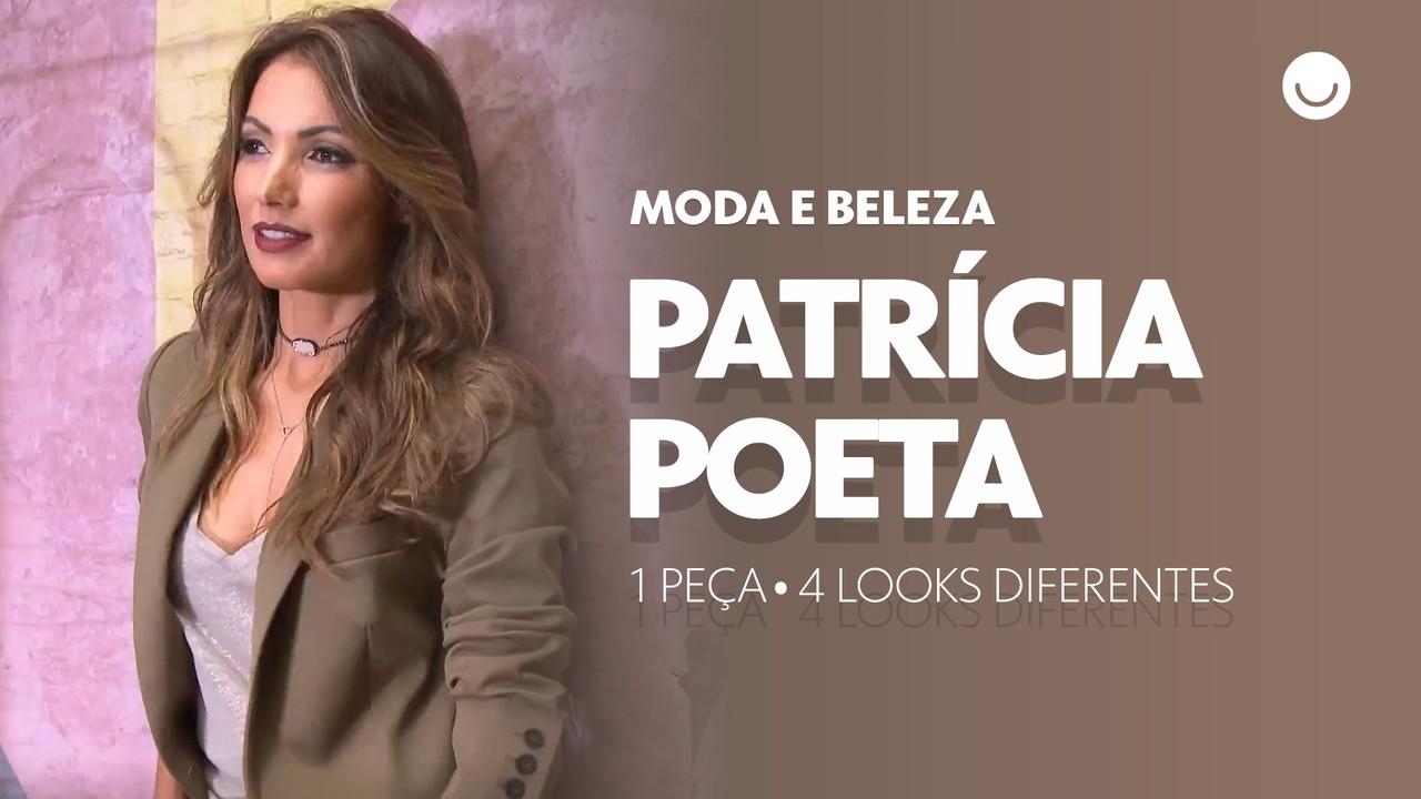 Patrícia Poeta ensina como usar 1 peça em 4 looks diferentes