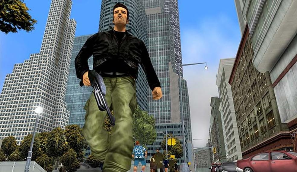 GTA 3, de 2001, foi revolucionário: primeiro GTA com cenários em 3D — Foto: Divulgação/Rockstar