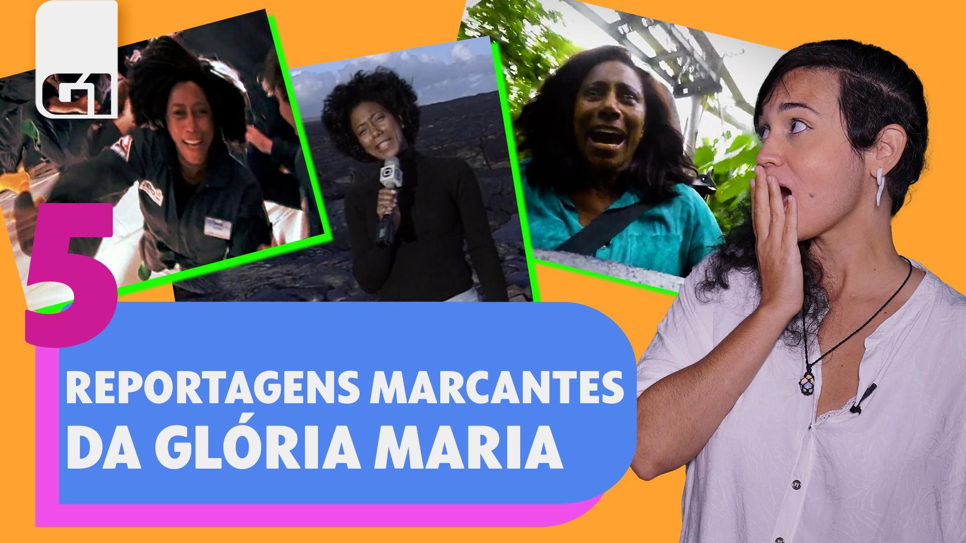 #TopTBT - 5 reportagens marcantes de Glória Maria