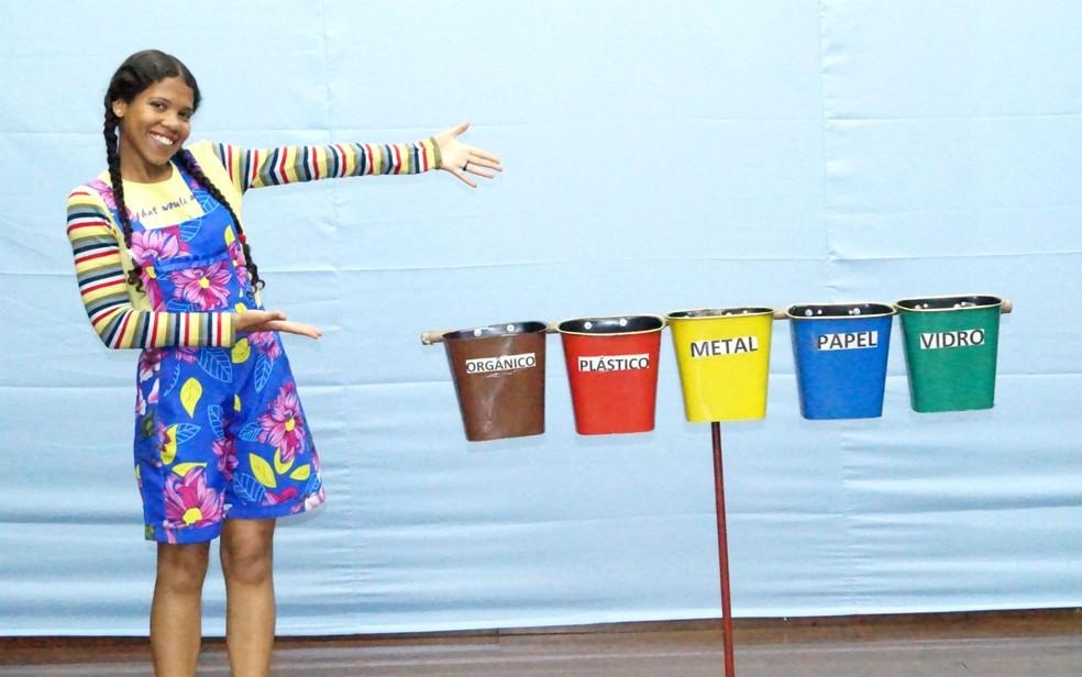 Personagem da peça infantil 'O pai da floresta', que será apresentada em Taguatinga, no DF, no Dia das Crianças (Foto: Cia Teatral Ser Cênico/Divulgação)