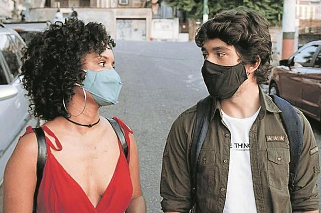 """Heslaine Vieira e Daniel Rangel numa cena do curta """"Tudo bem"""", de Caio César (Foto: Arquivo pessoal)"""