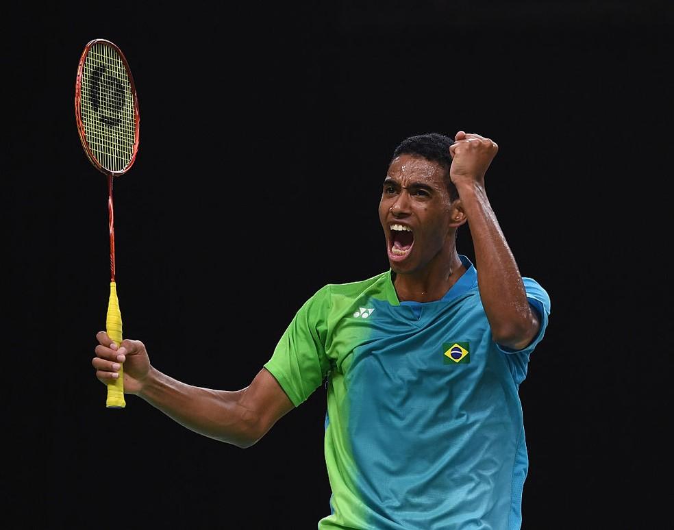 Ygor Coelho foi o primeiro brasileiro do badminton a disputar uma Olimpíada (Foto: Getty Images)