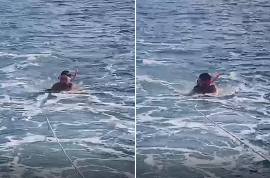 Novo vídeo mostra turista que morreu em Noronha usando prancha puxada por barco: 'Estava preocupado comigo', diz mulher