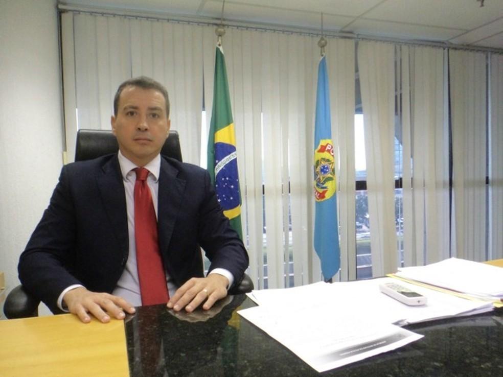 Ex-superintendente da Polícia Federal no Rio Grande do Sul, delegado Sandro Caron assume Secretaria da Segurança do Ceará. — Foto: Rafaella Fraga/ G1