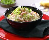 Risoto de linguiça com alho poró é opção econômica de prato gourmet