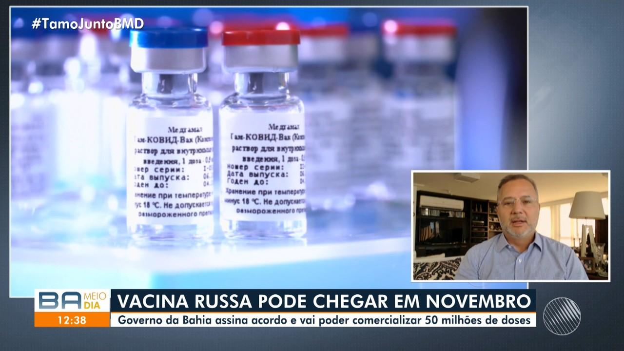 Secretário comenta o acordo assinado com a Rússia para envio de vacinas contra a Covid-19