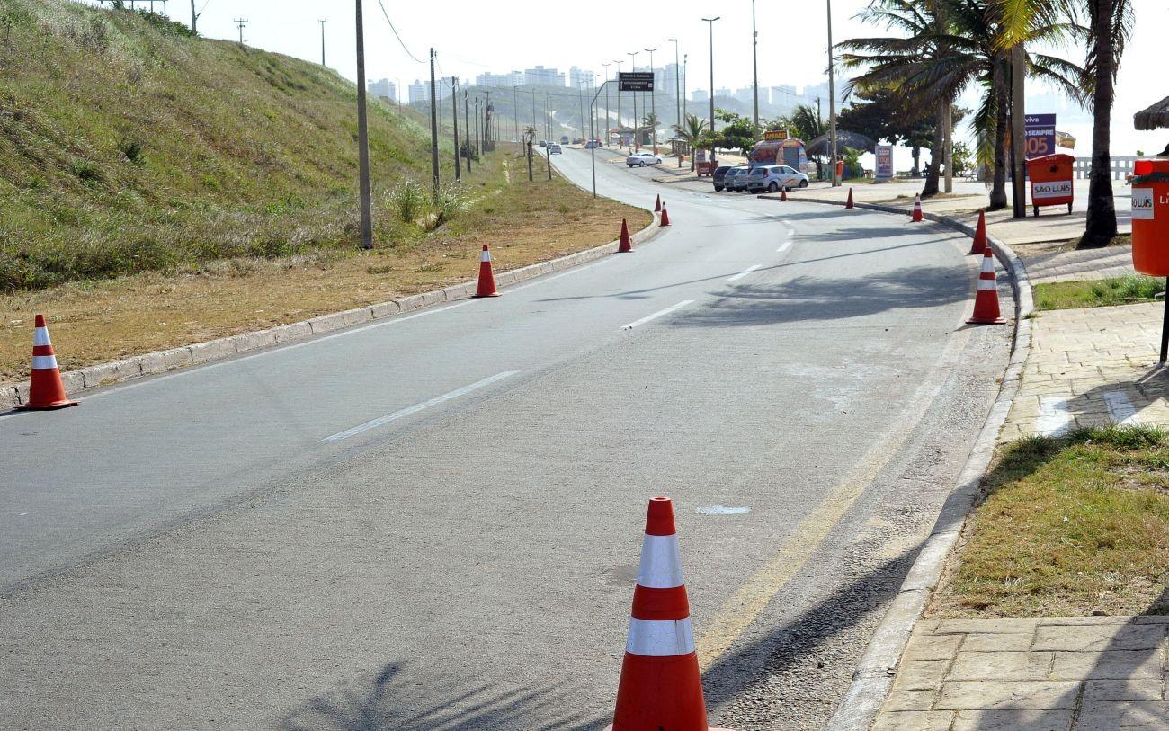 Trânsito em pontos da Av. Litorânea será interditado aos domingo e feriados em São Luís