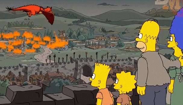 """Os Simpsons"" previu cena do penúltimo episódio de ""Game of Thrones"" (Foto: Divulgação)"