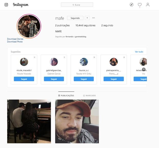 Maiara e Fernando criam perfil do casal no Instagram (Foto: Reprodução/Instagram)