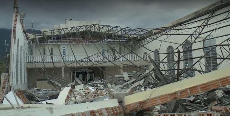 Igreja desaba durante passagem de 'ciclone bomba' em Garuva; 'Foi efeito dominó', disse pastor