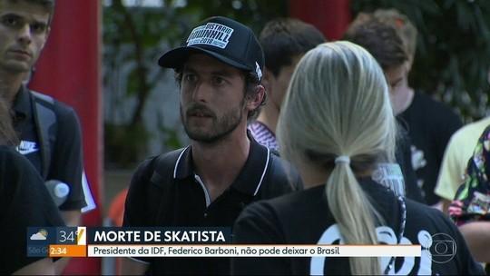 Morte de skatista: passaporte do presidente de Federação de Downhill é apreendido