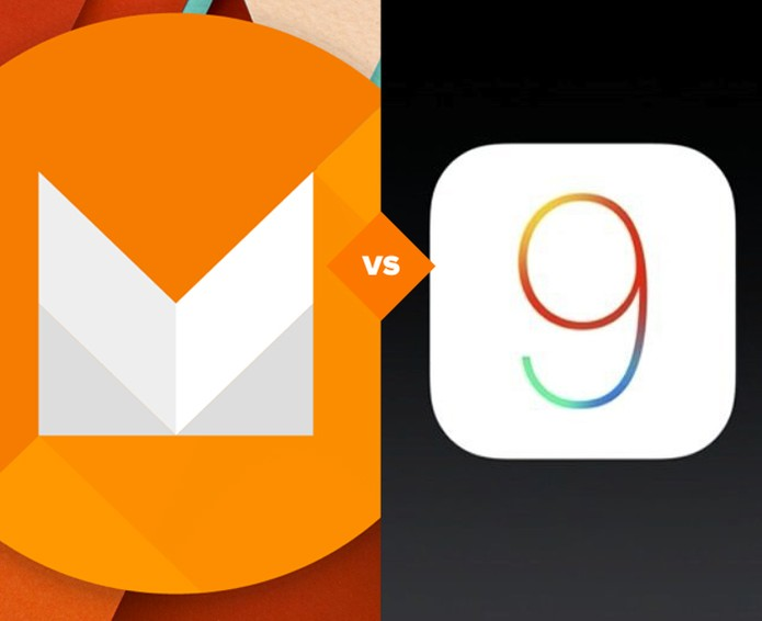 Android M vs iOS 9 (Foto: Arte/TechTudo)