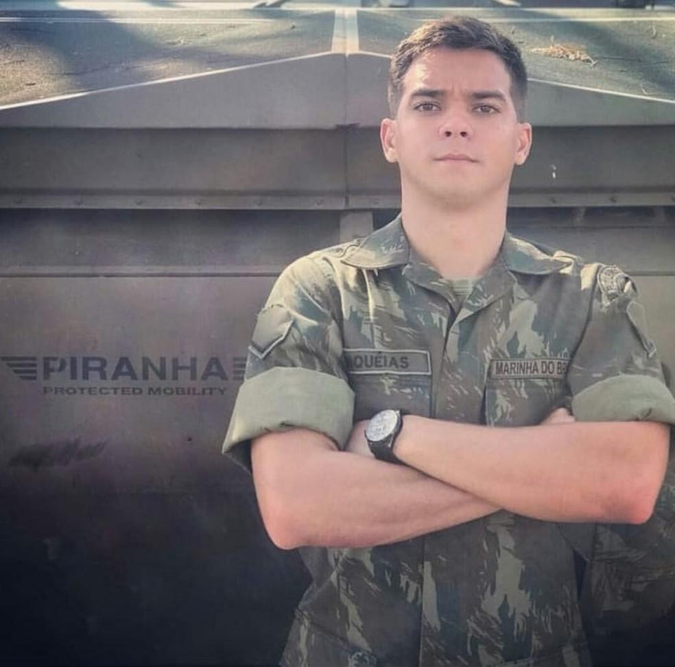 Miquéias Gabriel Ferreira entrou na Marinha em 2017 — Foto: Divulgação