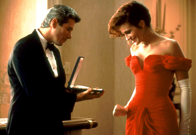 Julia Roberts e Richard Gere em cena de Uma Linda Mulher (1990) (Foto: Reprodução)