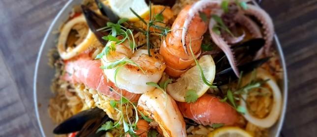 Paella de frutos do mar da Porto Frescatto
