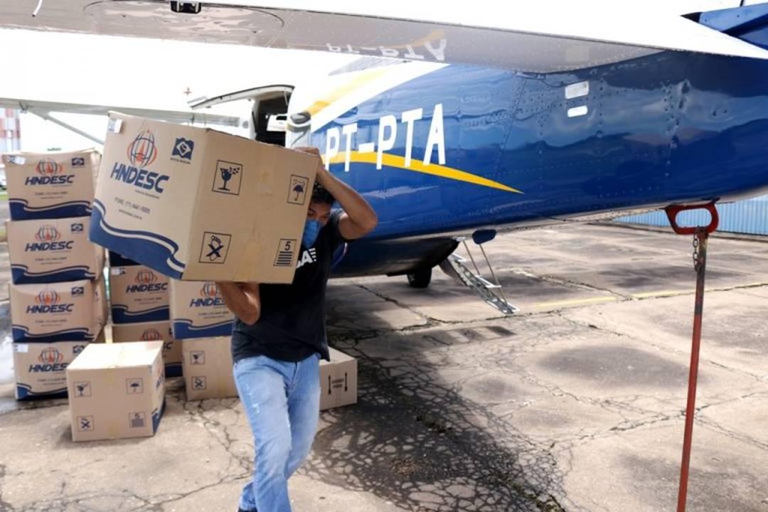 Rondônia recebe mais uma remessa de equipamentos aos profissionais de saúde para combater o novo coronavírus.
