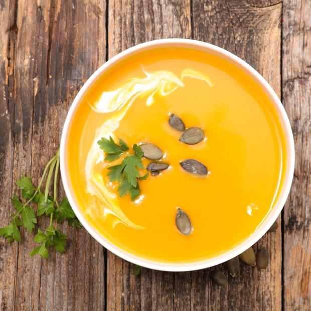 Sopa de abóbora com sementes (Foto: Thinkstock)