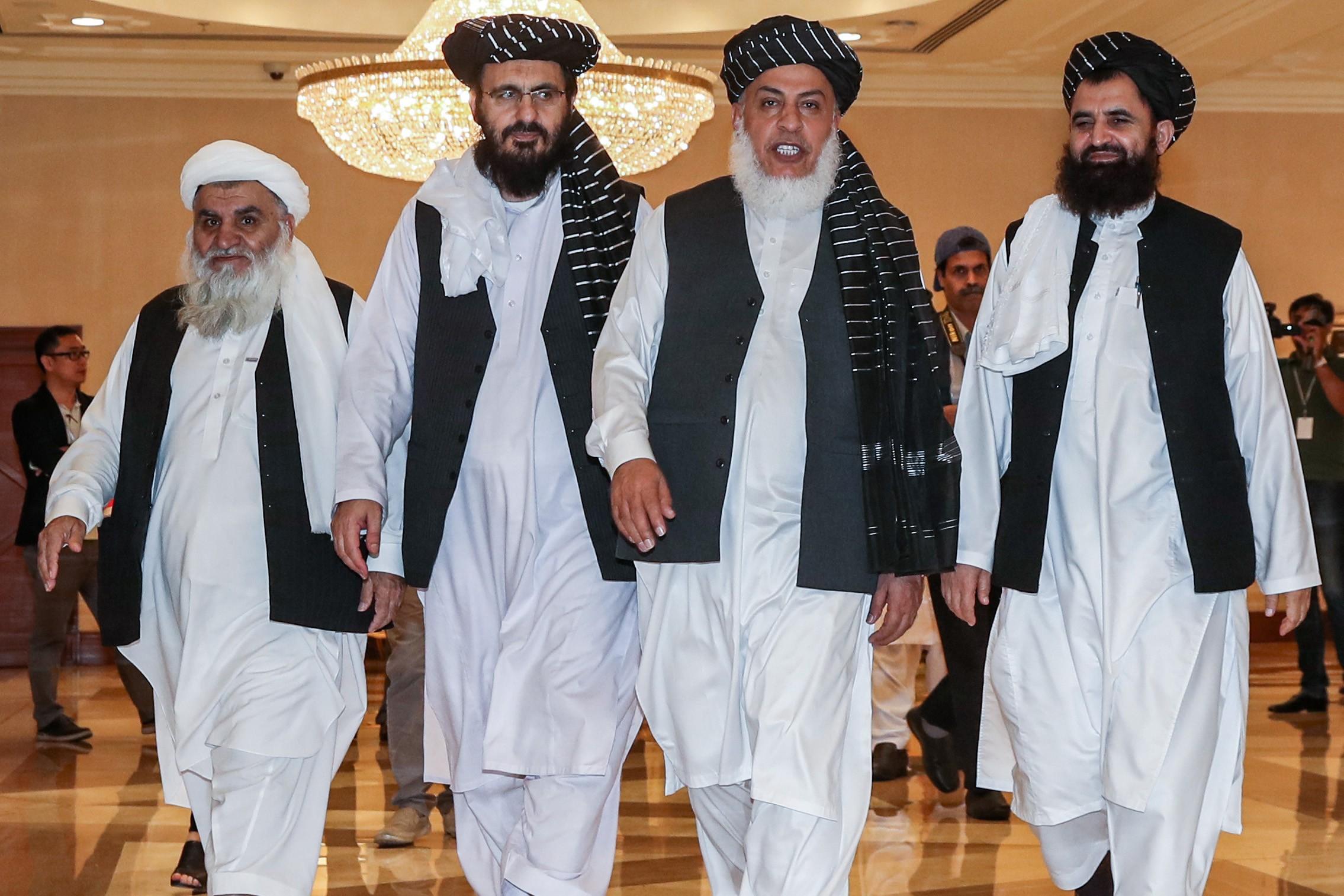Membros do Talibã em Doha