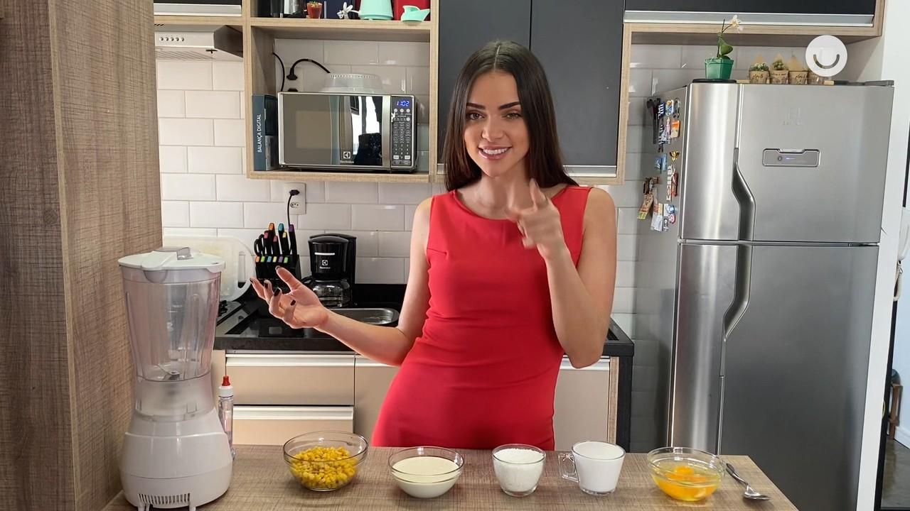 Jaque Ciocci ensina a fazer Bolo de Milho fit