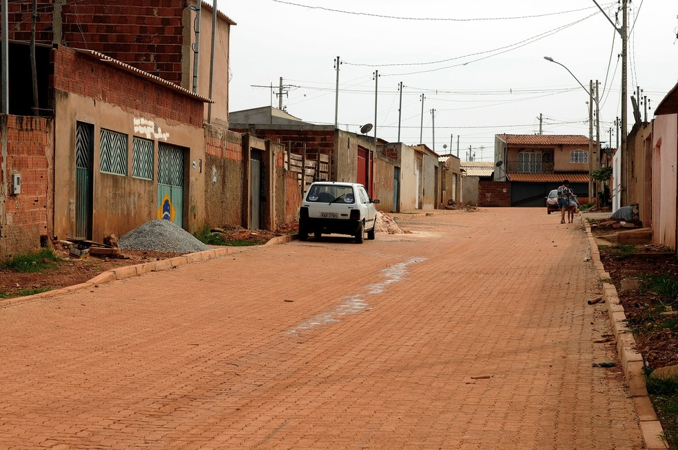 Rua 7 do Sol Nascente, no Distrito Federal  — Foto: Gabriel Jabur/Agência Brasília