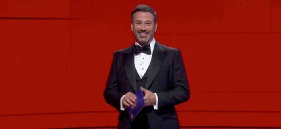 Aqui estão algumas das melhores falas do apresentador em seu monólogo de abertura da cerimônia: — Foto: EPA via BBC