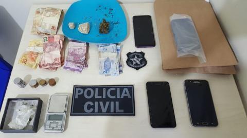 Suspeitos de tráfico de drogas são autuados pela Polícia Civil em Tucuruí, no PA - Notícias - Plantão Diário