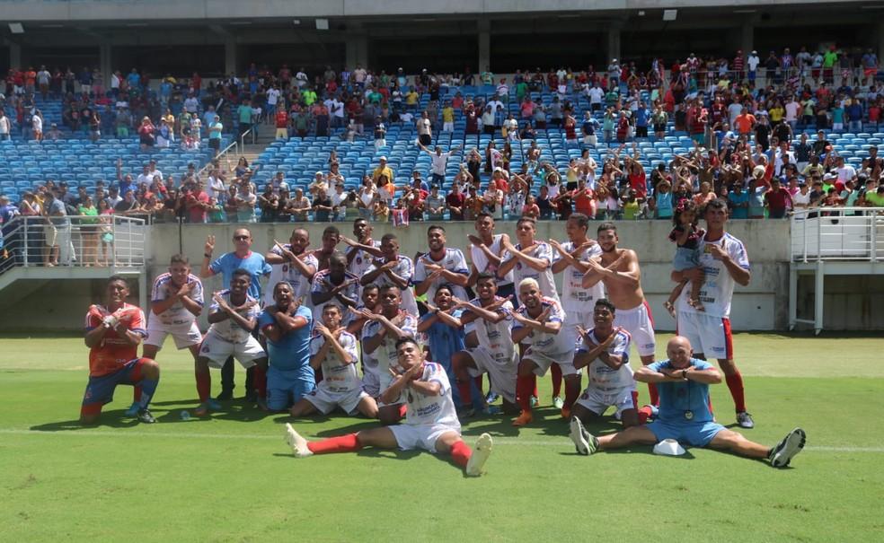 São Gonçalo do Amarante comemora título da Super Matutão — Foto: Jocaff Souza/10 Sports