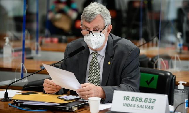 O senador Luis Carlos Heinze, do PP do Rio Grande do Sul