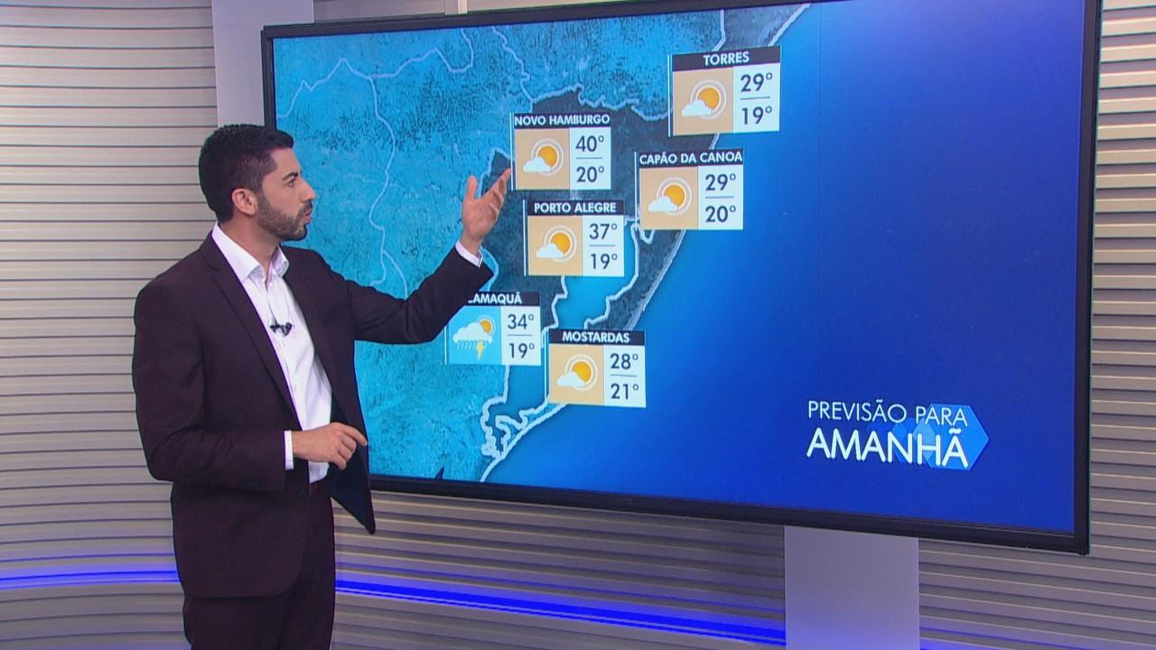 Quarta (25) tem chances de chuva em algumas regiões do RS