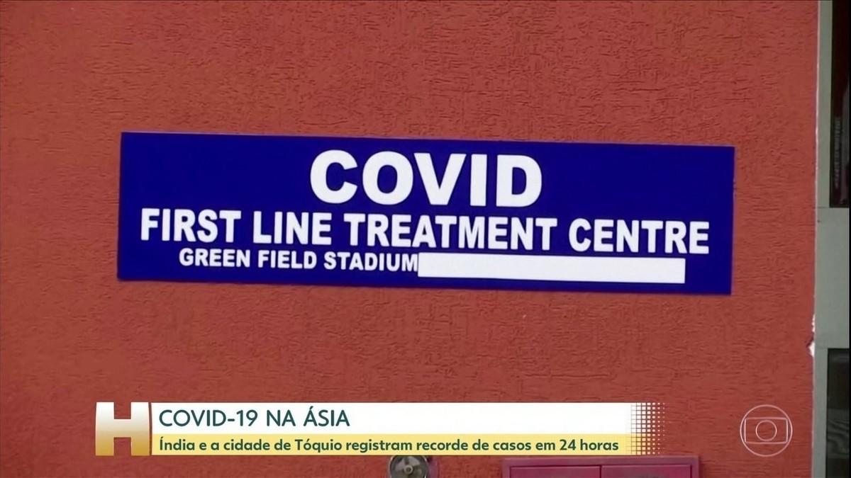 Tóquio tem recorde de novos casos de Covid-19 um dia depois de declarar 'alerta vermelho' para a doença – G1
