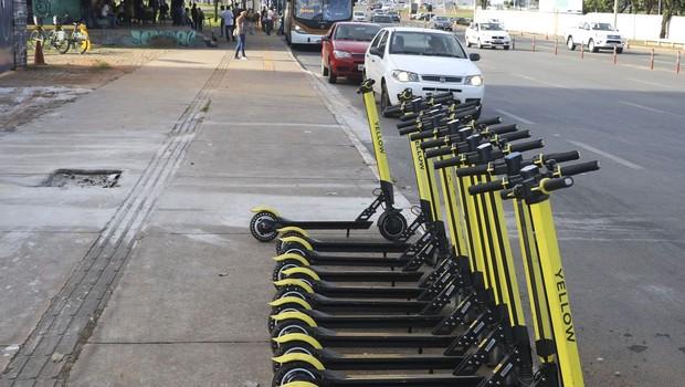 Patinetes elétricos da Yellow (Foto: Valter Campanato/Agência Brasil)