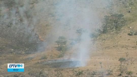 Delfinópolis é o 3º município de MG com maior número de focos de incêndios em vegetações