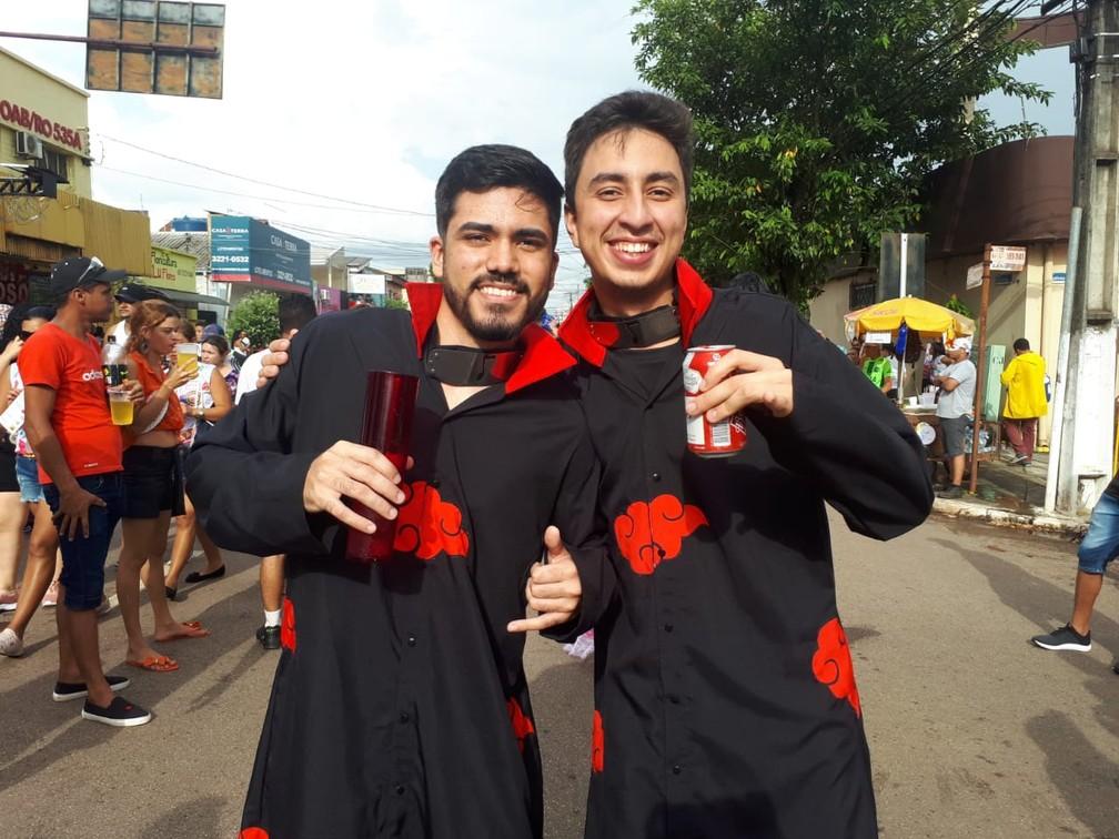 Fãs de Naruto marcam presença no BQVV em Porto Velho. — Foto: Ana Kézia Gomes/G1