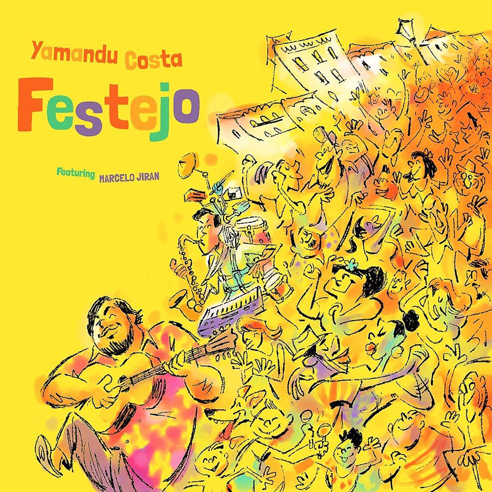 Capa do álbum 'Festejo', de Yamandu Costa com Marcelo Jiran — Foto: Reprodução